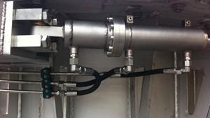Einbaufertige Hydraulikzylinder aus Edelstahl für Unterwasserbetrieb